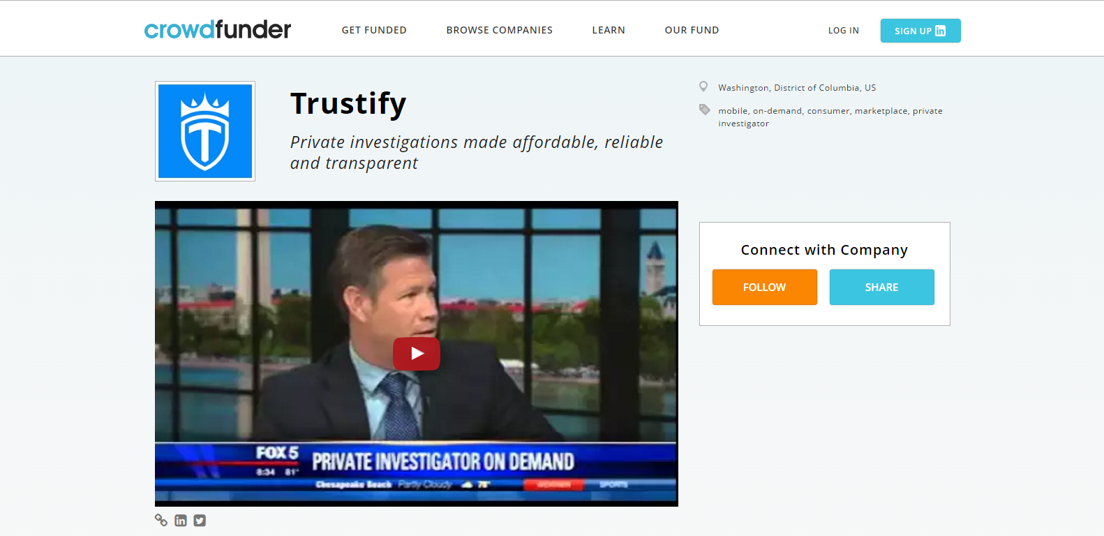 Trustify crowdfunder WE the CROWD