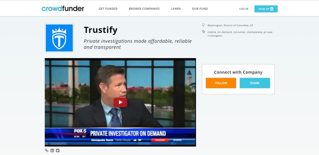 Trustify crowdfunder WE the CROWD